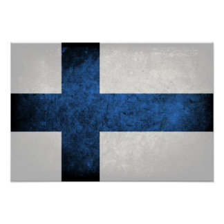 Bandeira de Finlandia Poster