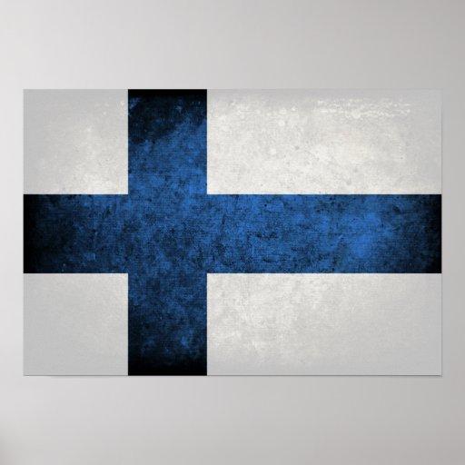 Bandeira de Finlandia Impressão