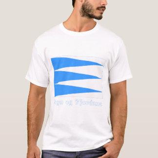 Bandeira de Fjordane do og de Sogn com nome Camiseta