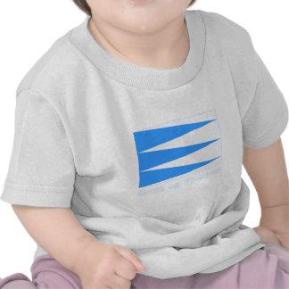 Bandeira de Fjordane do og de Sogn com nome T-shirt