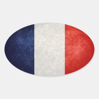 Bandeira de France Adesivo Oval