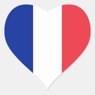 Bandeira de France Adesivo Coração