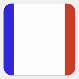 Bandeira de France Adesivo Quadrado