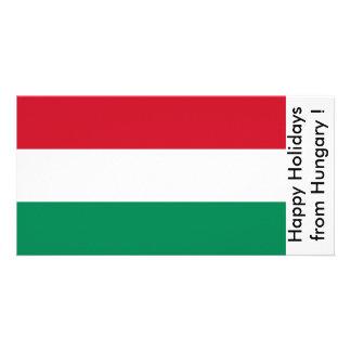 Bandeira de France boas festas de Hungria Cartões Com Fotos