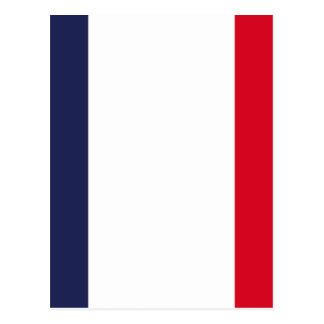 Bandeira de France Cartão Postal