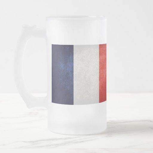 Bandeira de France; Francês; Caneca