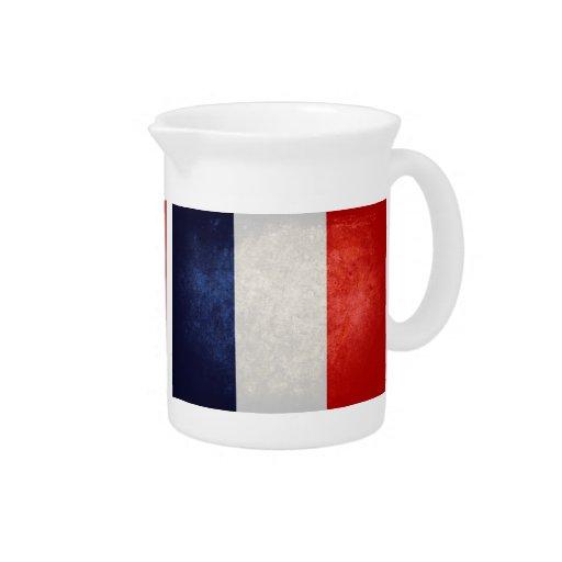 Bandeira de France; Francês; Jarros De Bebidas