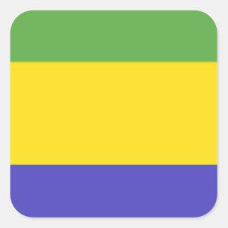 Bandeira de Gabon Adesivo Quadrado