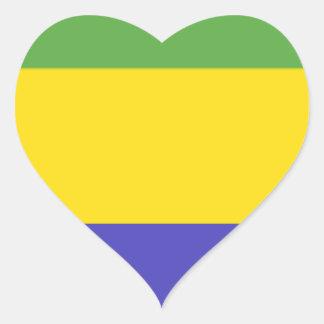 Bandeira de Gabon Adesivo De Coração