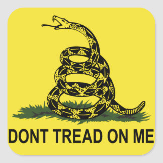 Bandeira de Gadsden Adesivo Quadrado