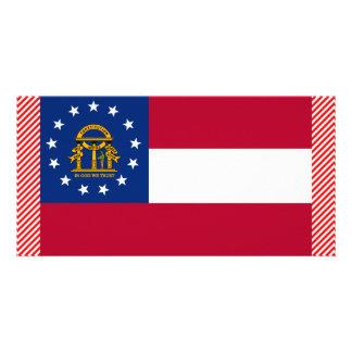 Bandeira de Geórgia Cartão Com Foto Personalizado