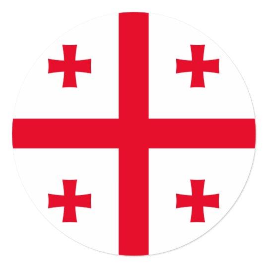 Bandeira de Geórgia Convite Quadrado 13.35 X 13.35cm