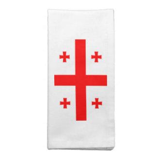 Bandeira de Geórgia Guardanapos De Pano