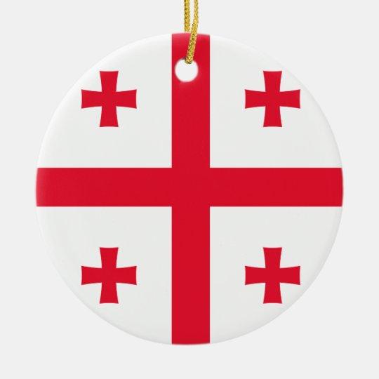 Bandeira de Geórgia Ornamento De Cerâmica