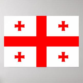Bandeira de Geórgia Poster