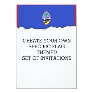 Bandeira de Guam Convite 12.7 X 17.78cm