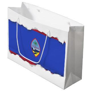 Bandeira de Guam Sacola Para Presentes Grande