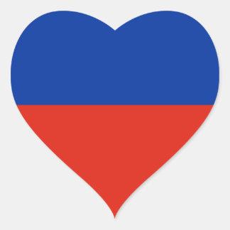 Bandeira de Haiti Adesivos De Corações