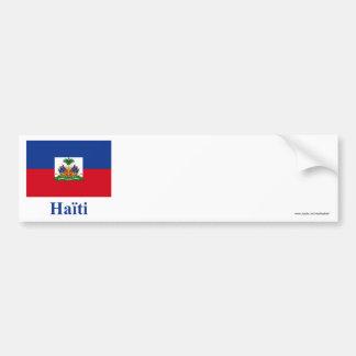 Bandeira de Haiti com nome em francês Adesivo Para Carro