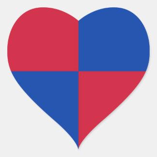 Bandeira de Harenkarspel Adesivo Coração