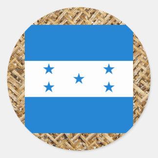 Bandeira de Honduras na matéria têxtil temático Adesivo