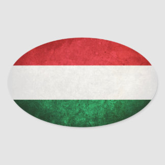 Bandeira de Hungria Adesivo Oval