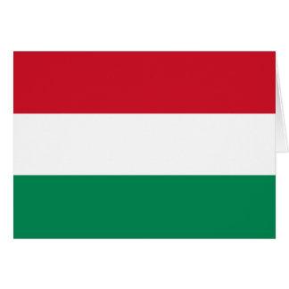 Bandeira de Hungria Cartão De Nota