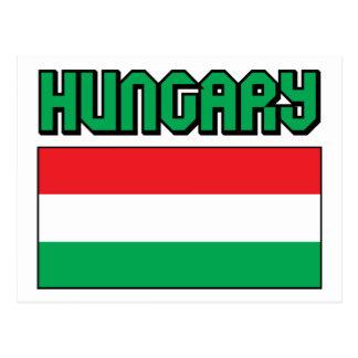 Bandeira de Hungria Cartão Postal