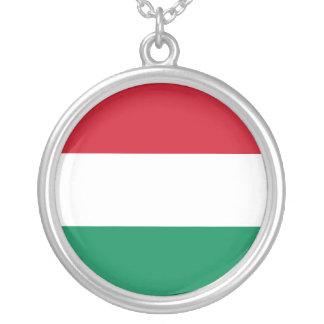 Bandeira de Hungria Colar Com Pendente Redondo