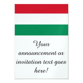 Bandeira de Hungria Convite 12.7 X 17.78cm
