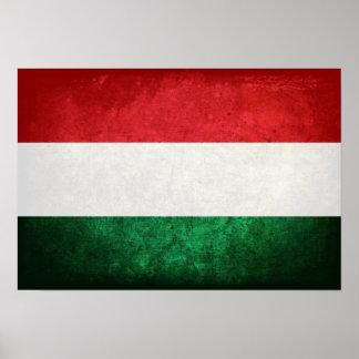 Bandeira de Hungria Pôsteres