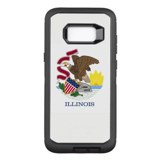 Bandeira de Illinois Capa OtterBox Defender Para Samsung Galaxy S8+