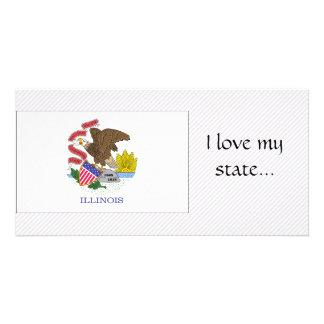 Bandeira de Illinois Cartoes Com Fotos