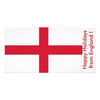 Bandeira de Inglaterra, boas festas do Reino Unido Cartão Com Foto
