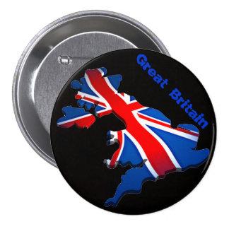 bandeira de Inglaterra Bóton Redondo 7.62cm