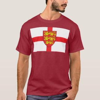 Bandeira de Inglaterra com t-shirt da brasão Camiseta