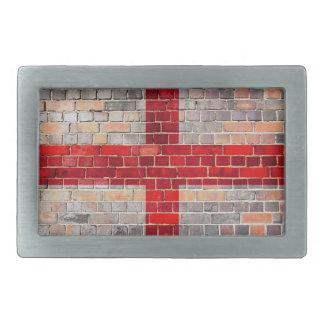 Bandeira de Inglaterra em uma parede de tijolo