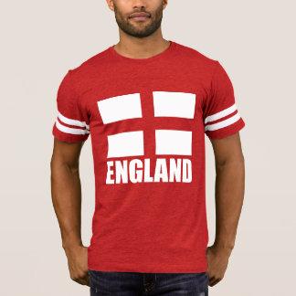 Bandeira de Inglaterra no tecido vermelho Tshirts