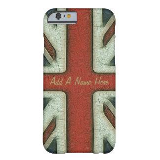 Bandeira de Ingleses do estilo do vintage Capa Barely There Para iPhone 6