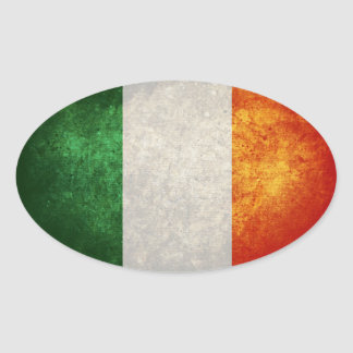 Bandeira de Ireland Adesivo Oval