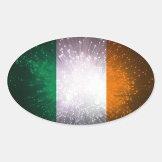 Bandeira de Ireland Adesivos Em Formato Ovais