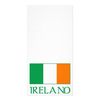 Bandeira de Ireland Cartão Com Foto