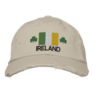 Bandeira de Ireland e chapéu bordado trevo Boné Bordado