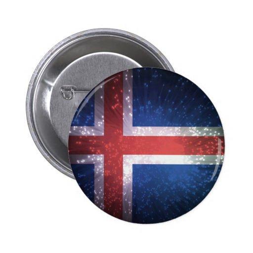 Bandeira de Islândia Boton
