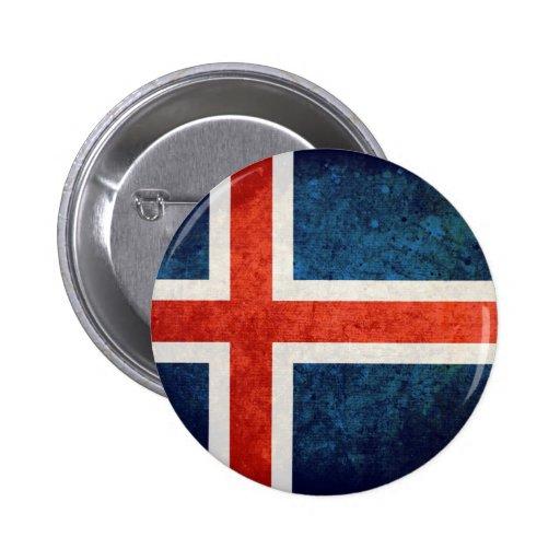 Bandeira de Islândia Botons