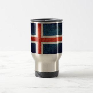 Bandeira de Islândia Caneca Térmica