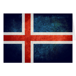 Bandeira de Islândia Cartão De Nota