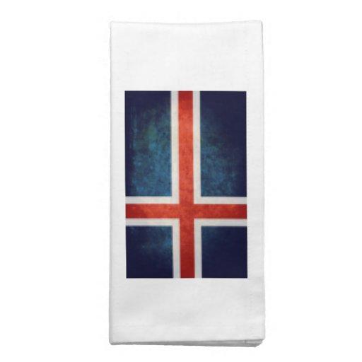 Bandeira de Islândia Guardanapos Impresso