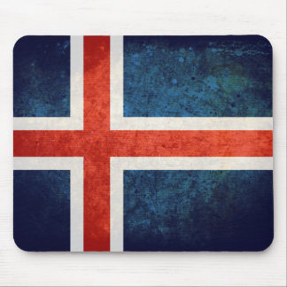 Bandeira de Islândia Mouse Pads