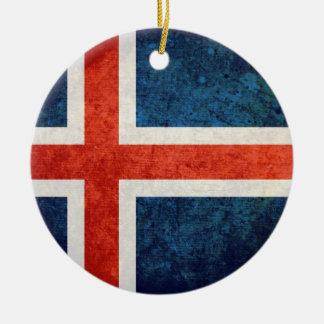 Bandeira de Islândia Enfeites Para Arvore De Natal